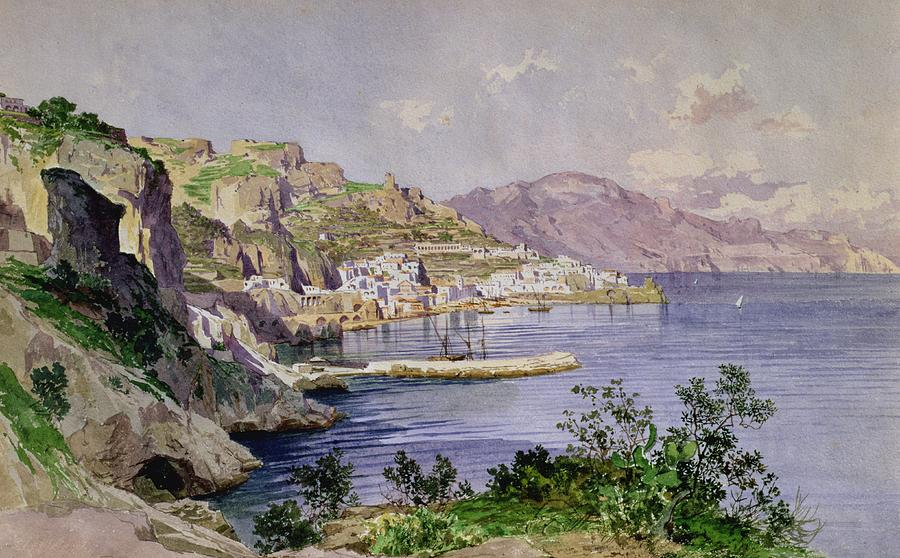 Italian Painting - Amalfi by Ludwig Hans Fischer