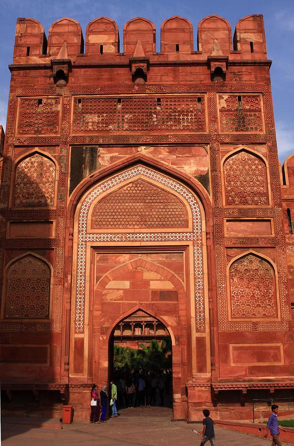 India Photograph - Amar Singh Gate Red Fort Agra  by Aidan Moran