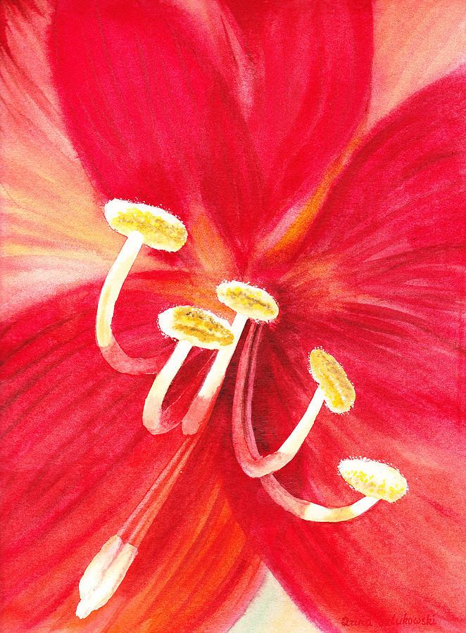 Amaryllis Painting - Amaryllis Flower by Irina Sztukowski