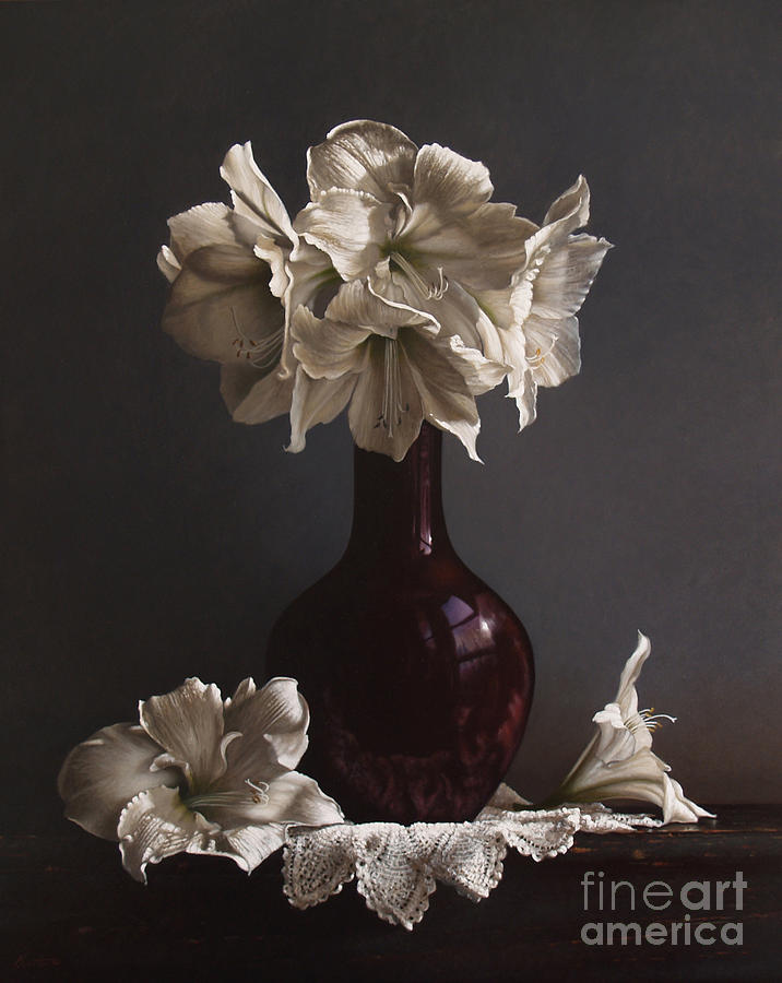 Still Life Painting - Amaryllis  by Lawrence Preston