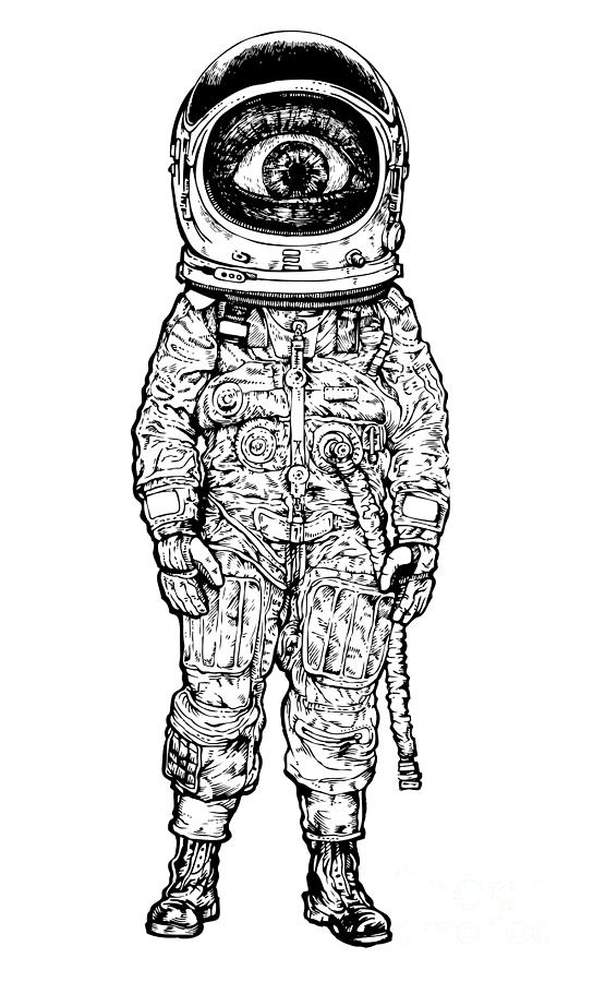 Amazement Digital Art - Amazement Astronaut. Vector Illustration by Jumpingsack
