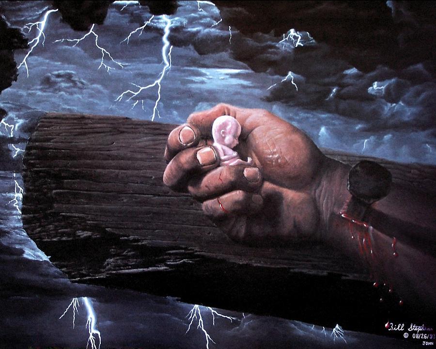 Spiritual Painting - Amazing Grace by Bill Stephens