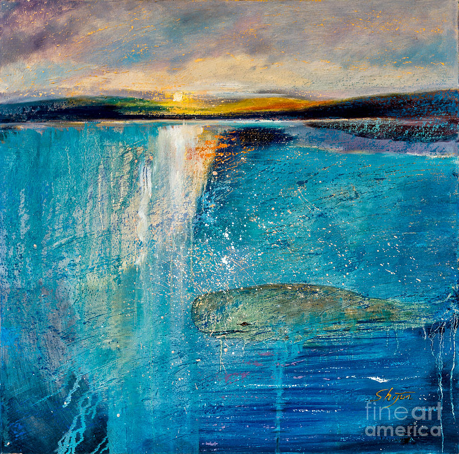 Landscape Paintings Painting - Amazing Ocean by Shijun Munns