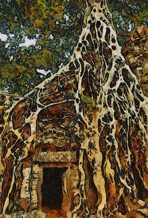 Original Framed Prints Painting - Amazing Tree by Teara Na