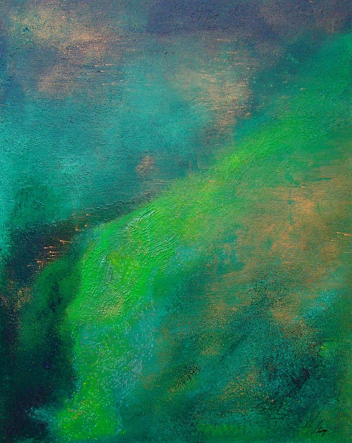 Abstract Painting - Amazon Stream by Jay Strong