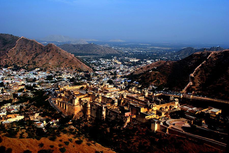 Landscape Photograph - Amber Palace - Jaipur- Rajasthan- Viators Agonism by Vijinder Singh
