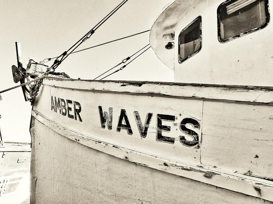 Shrimp Boat Photograph - Amber Waves Again by Patricia Greer