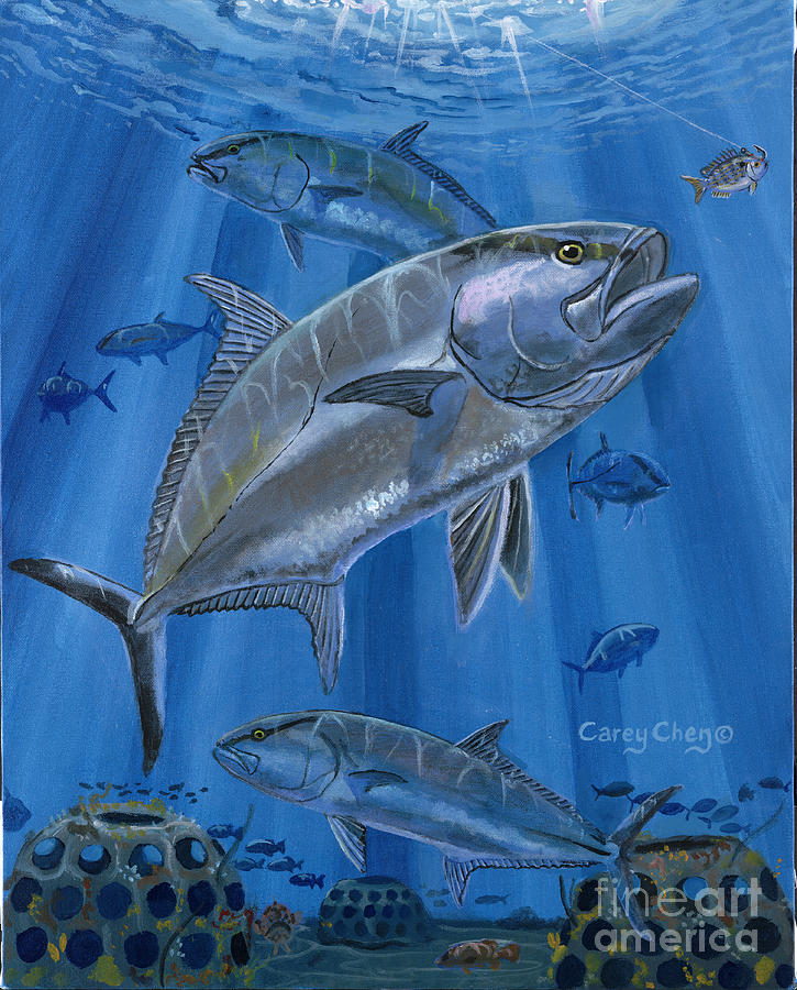 Amberjack Painting - Amberjack In0029 by Carey Chen