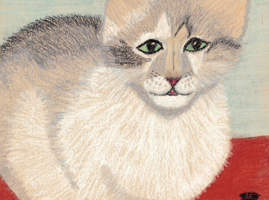 Cat Pastel - Ambers Shadow by Jessica Foster