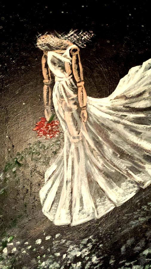 Sad Painting - Amelia by Tanya Reynolds