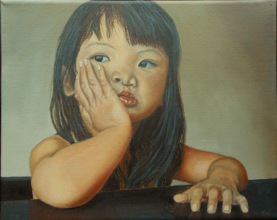 Children Paintings Painting - Amelie-an 6 by Thu Nguyen