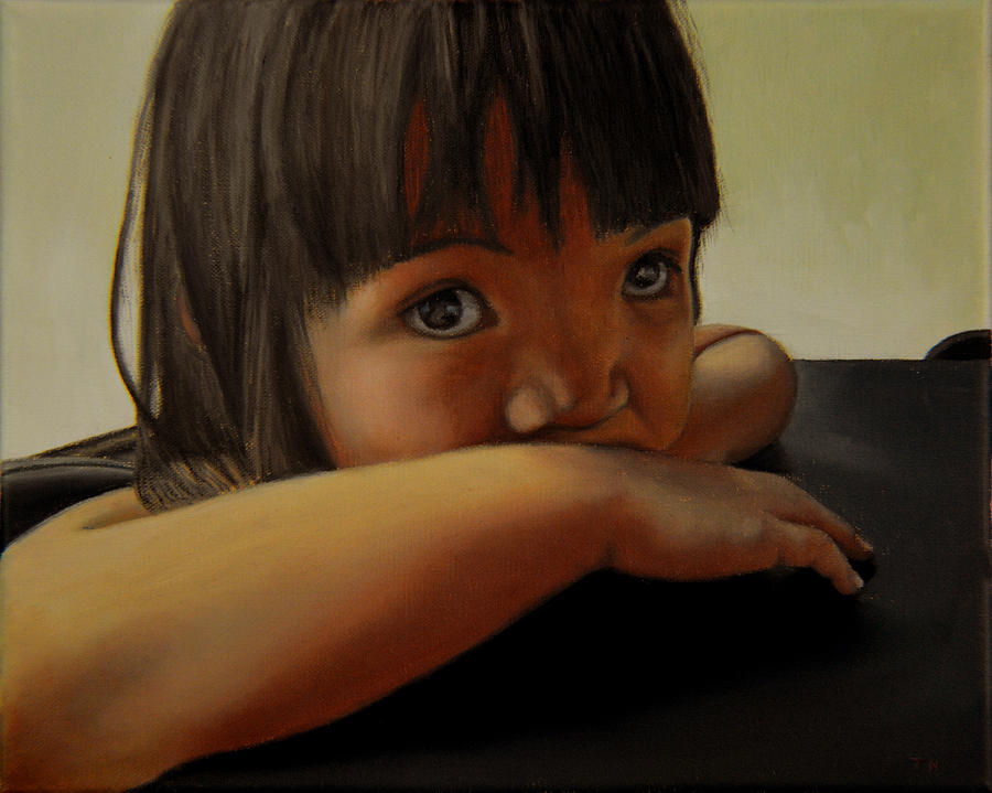 Child Painting - Amelie-an 7 by Thu Nguyen