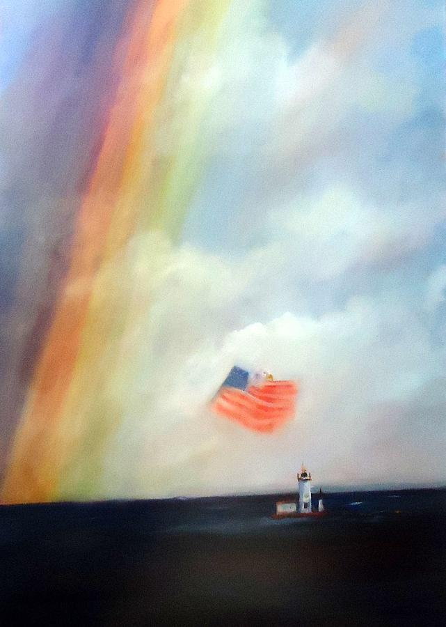 Rainbow Painting - America by Betty Pimm