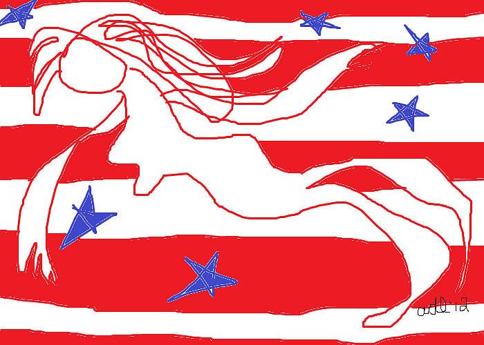 Free Falling Painting - America Free Falling  by Anita Dale Livaditis