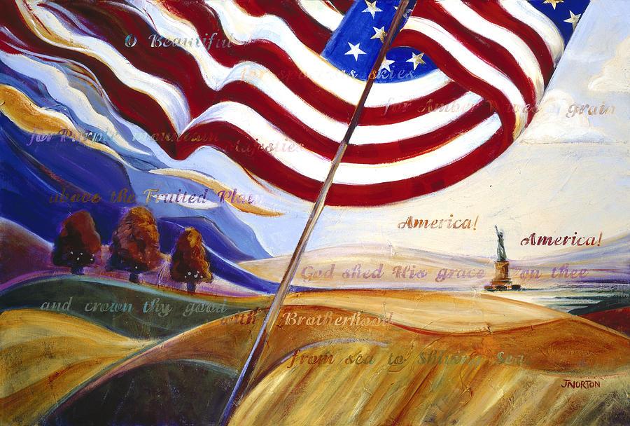 Jen Norton Painting - America by Jen Norton