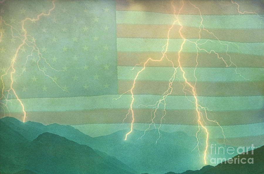 Lightning Photograph - America Walk The Line  by James BO  Insogna