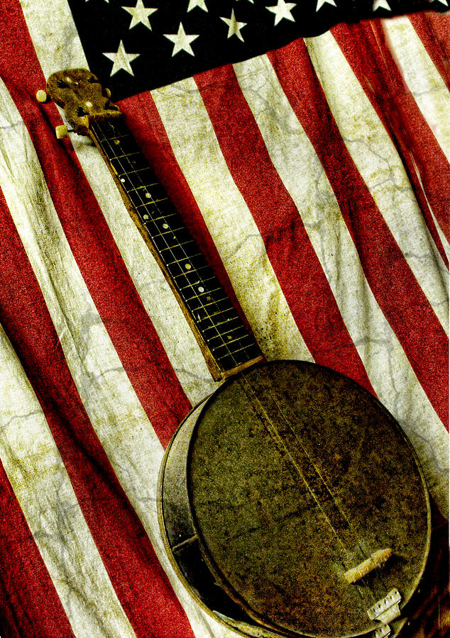 Americana Photograph - American Banjo by Kristie  Bonnewell