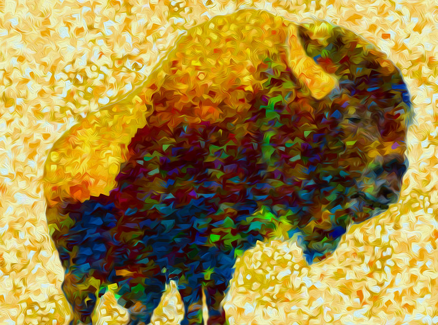 Bison Painting - American Bison by Jack Zulli