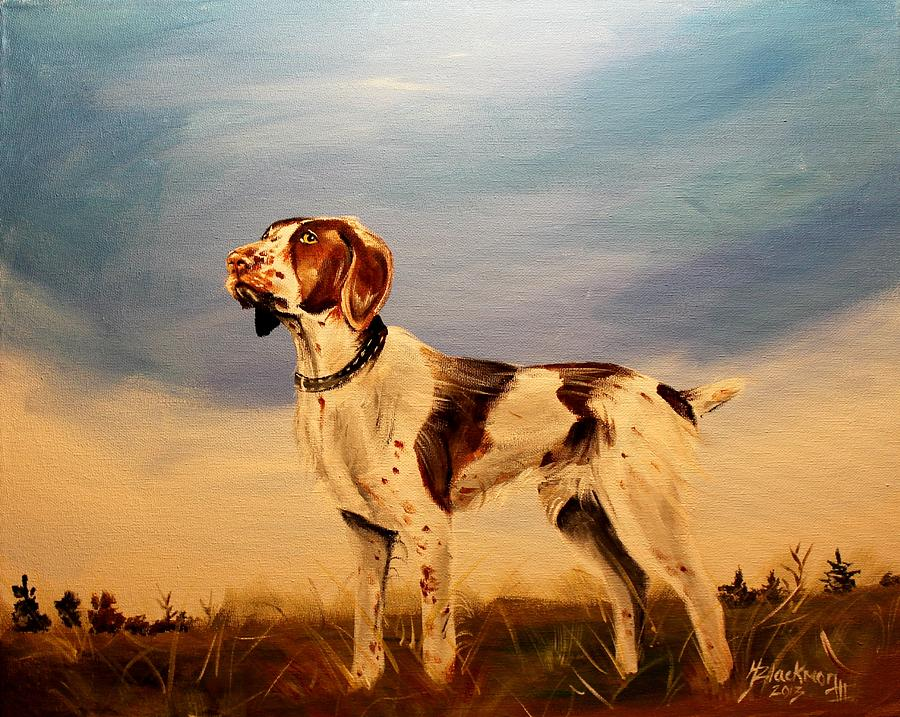 Dog Painting - American Brittany by Henry Blackmon