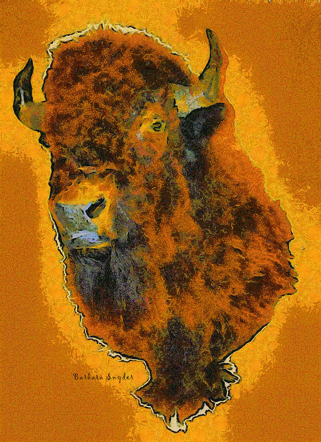 Barbara Snyder Digital Art - American Buffalo by Barbara Snyder