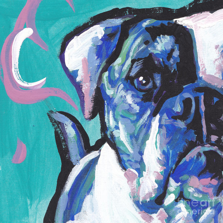 American Bulldog Painting - American Bully Boy by Lea S