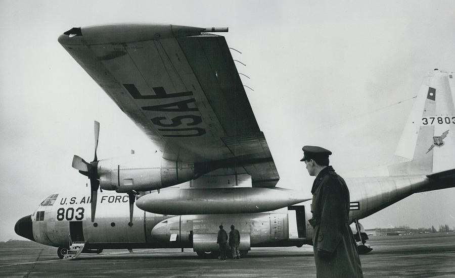 Retro Photograph - American C.130 E. Aircraft - Demonstrated For Air Force by Retro Images Archive