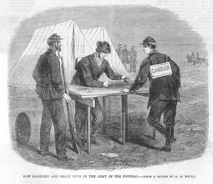 american civil war soldiers drawing by mary evans picture library