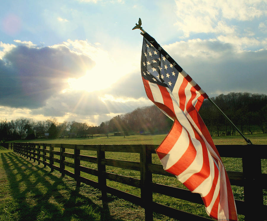 Flag Photograph - American Country by Mary Lawson