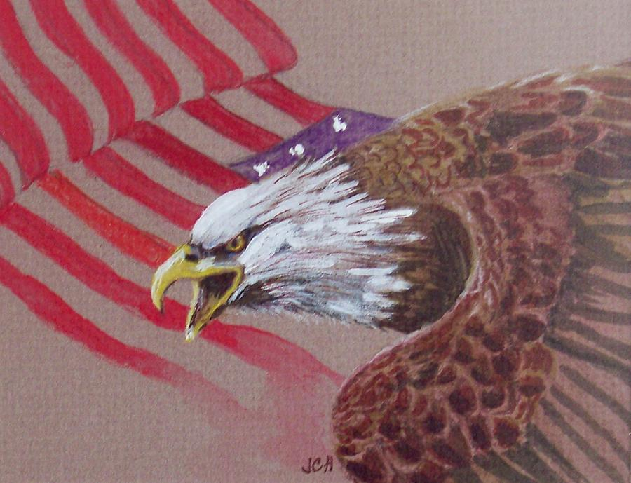 Eagle Painting - American Eagle by Jean Ann Curry Hess