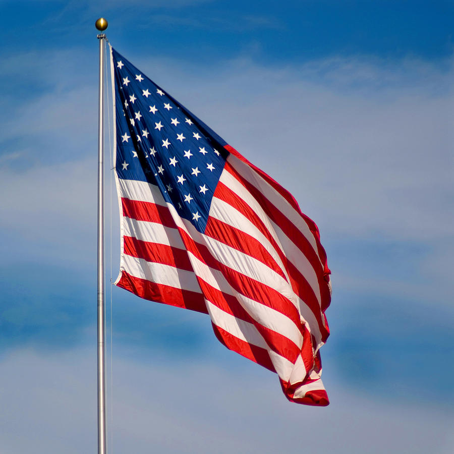 America Photograph - American Flag by Benjamin Reed