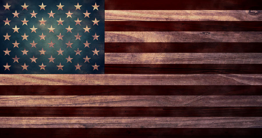 American Flag Digital Art - American Flag I by April Moen