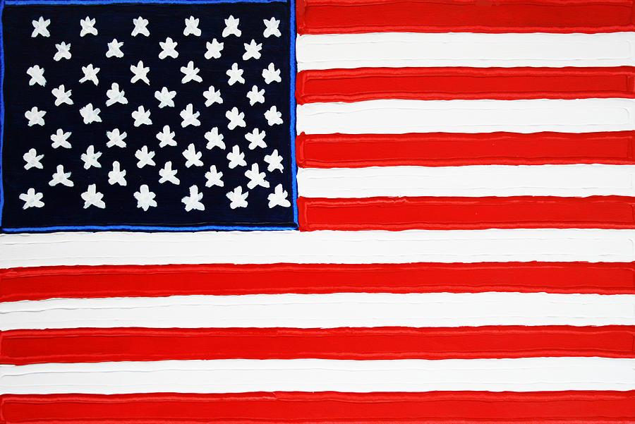 American Flag Painting - American Flag by Matthew Brzostoski
