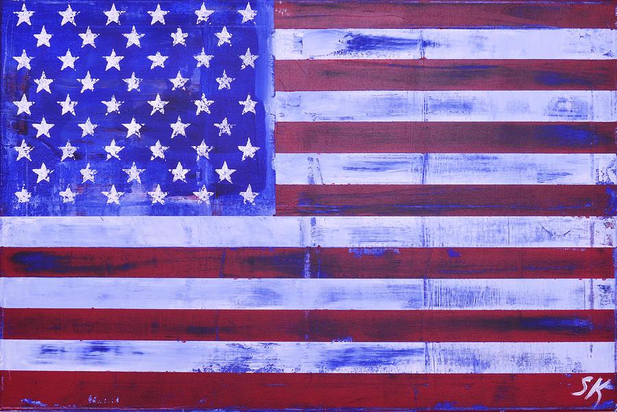 Patriot Painting - American Flag by Sean Keil
