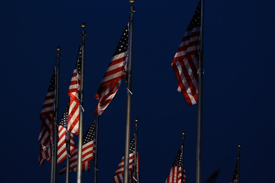 Usa Photograph - American Flags by DustyFootPhotography