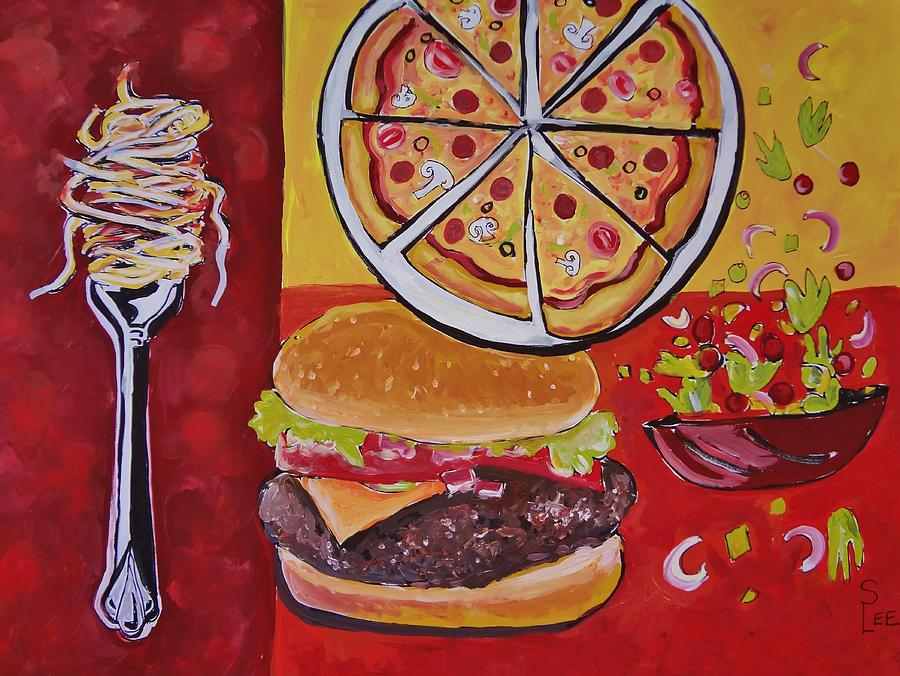 American food pop art painting by shannon lee for Art and appetite american painting culture and cuisine