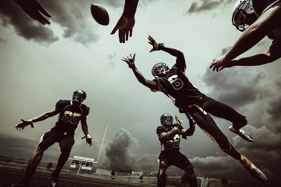 American Football Match Photograph by Ferrantraite