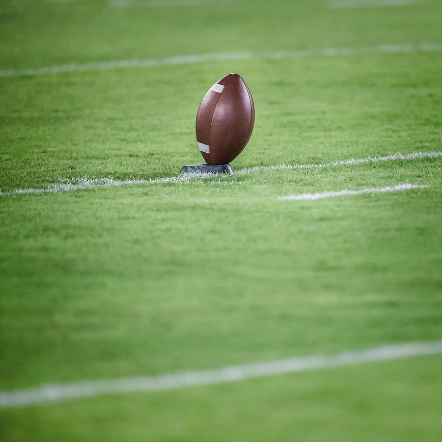 American Football On Tee Photograph by David Madison