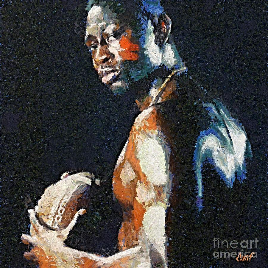 American Football Painting - American Football Player by Dragica  Micki Fortuna