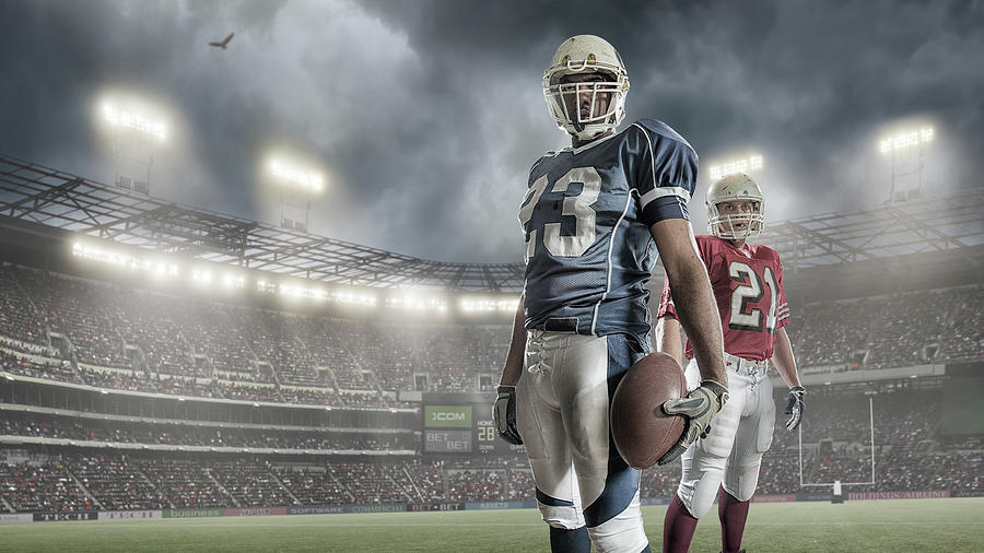 American Football Players Photograph by Peepo