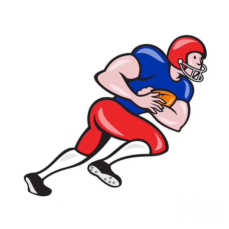American Football Digital Art - American Football Running Back Rushing by Aloysius Patrimonio