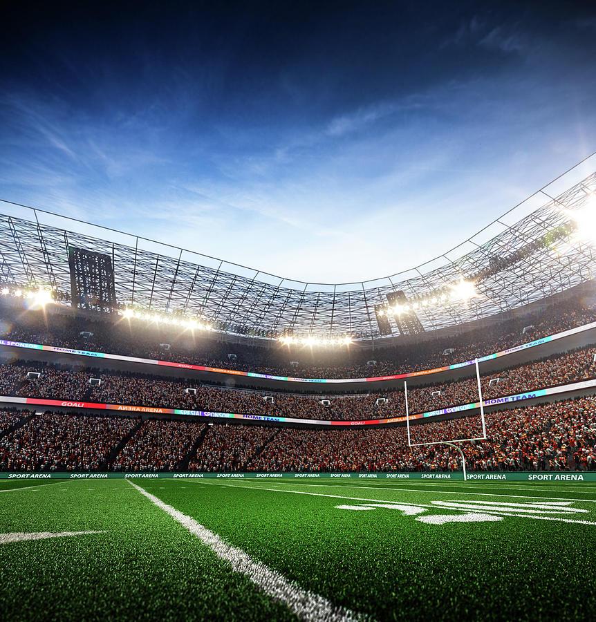 American Football Stadium Arena Vertical Photograph by Sarhange1