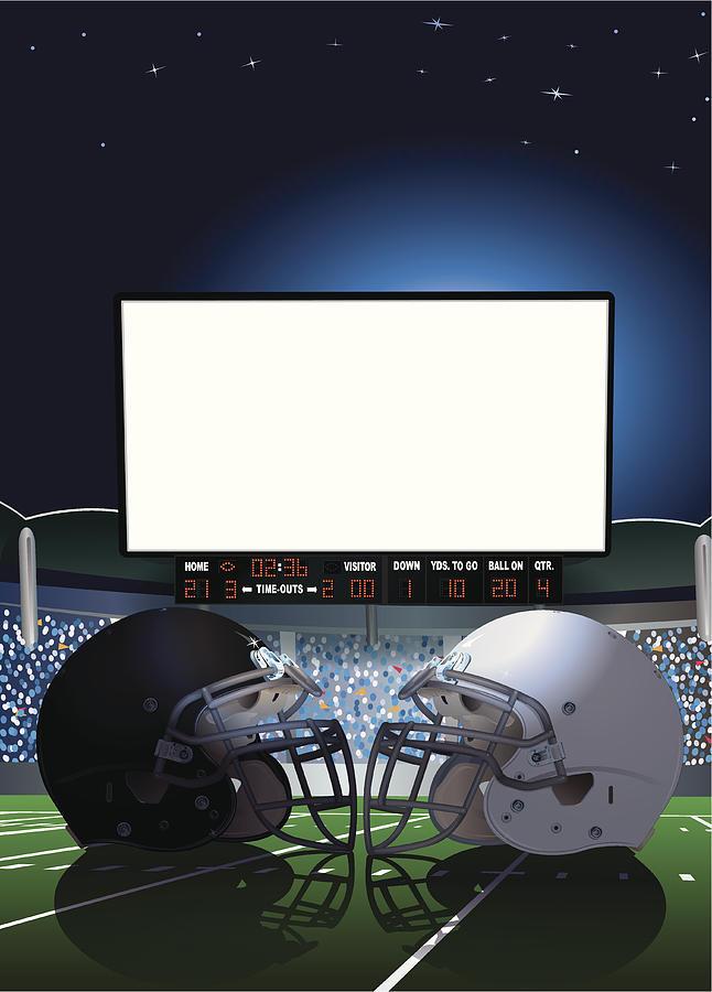 American Football Stadium Jumbotron Digital Art by Keithbishop