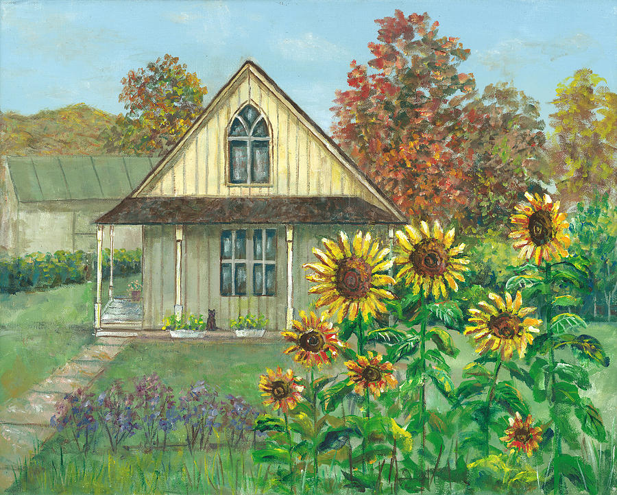 American Gothic House Painting