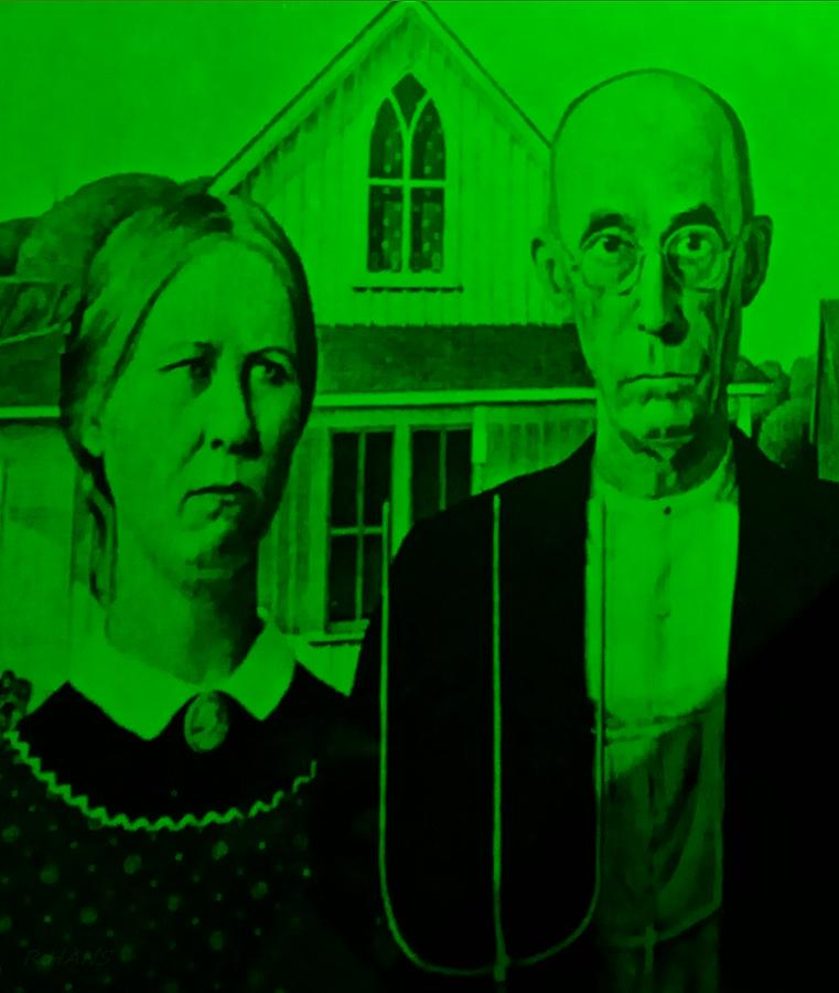 Americana Photograph - American Gothic In Green by Rob Hans