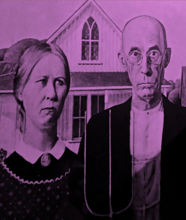 Americana Photograph - American Gothic In Pink by Rob Hans