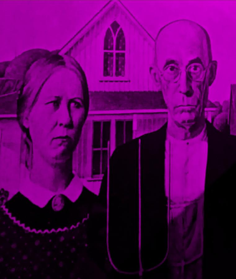 Americana Photograph - American Gothic In Purple by Rob Hans