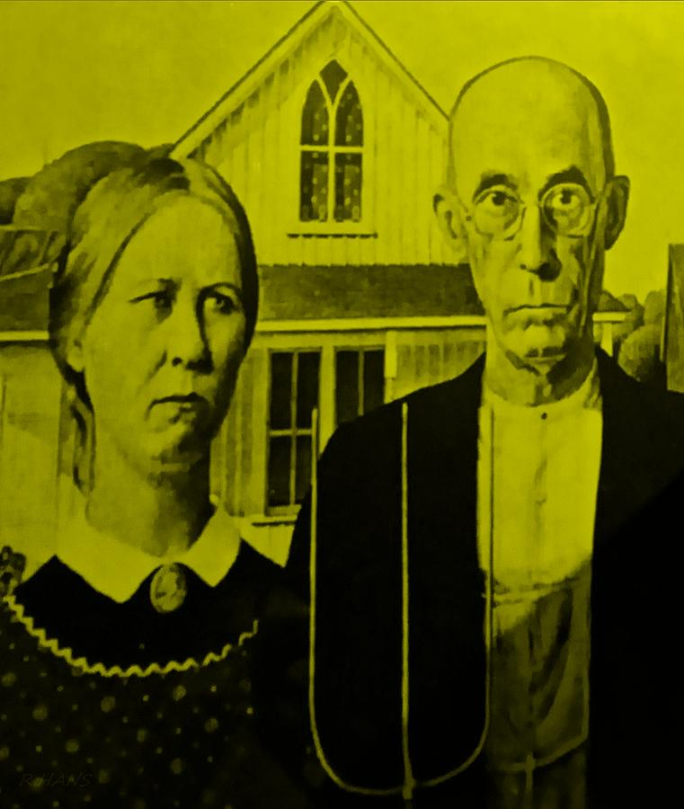Americana Photograph - American Gothic In Yellow by Rob Hans