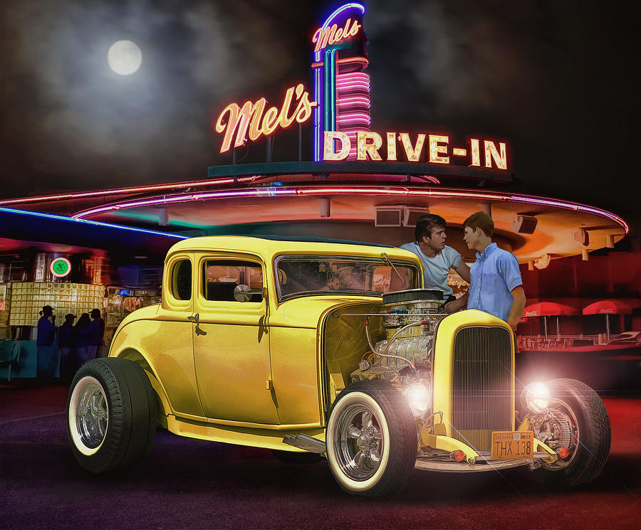 American Graffiti 40 Years Later Photograph By Rat