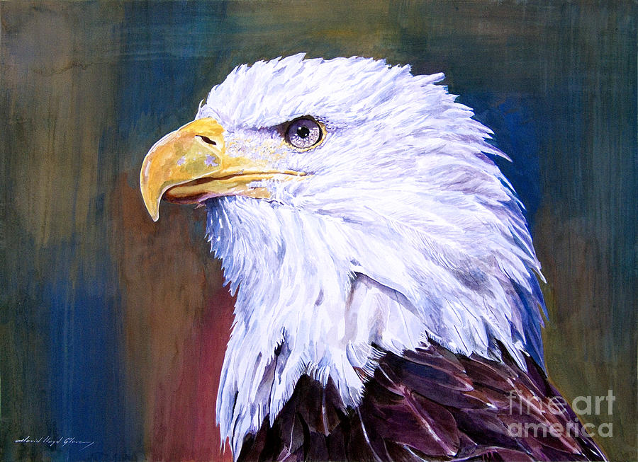 Eagles Painting - American Guardian by David Lloyd Glover