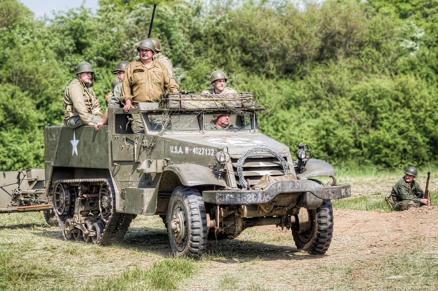 Overlord Photograph - American Half Track by Trevor Wintle